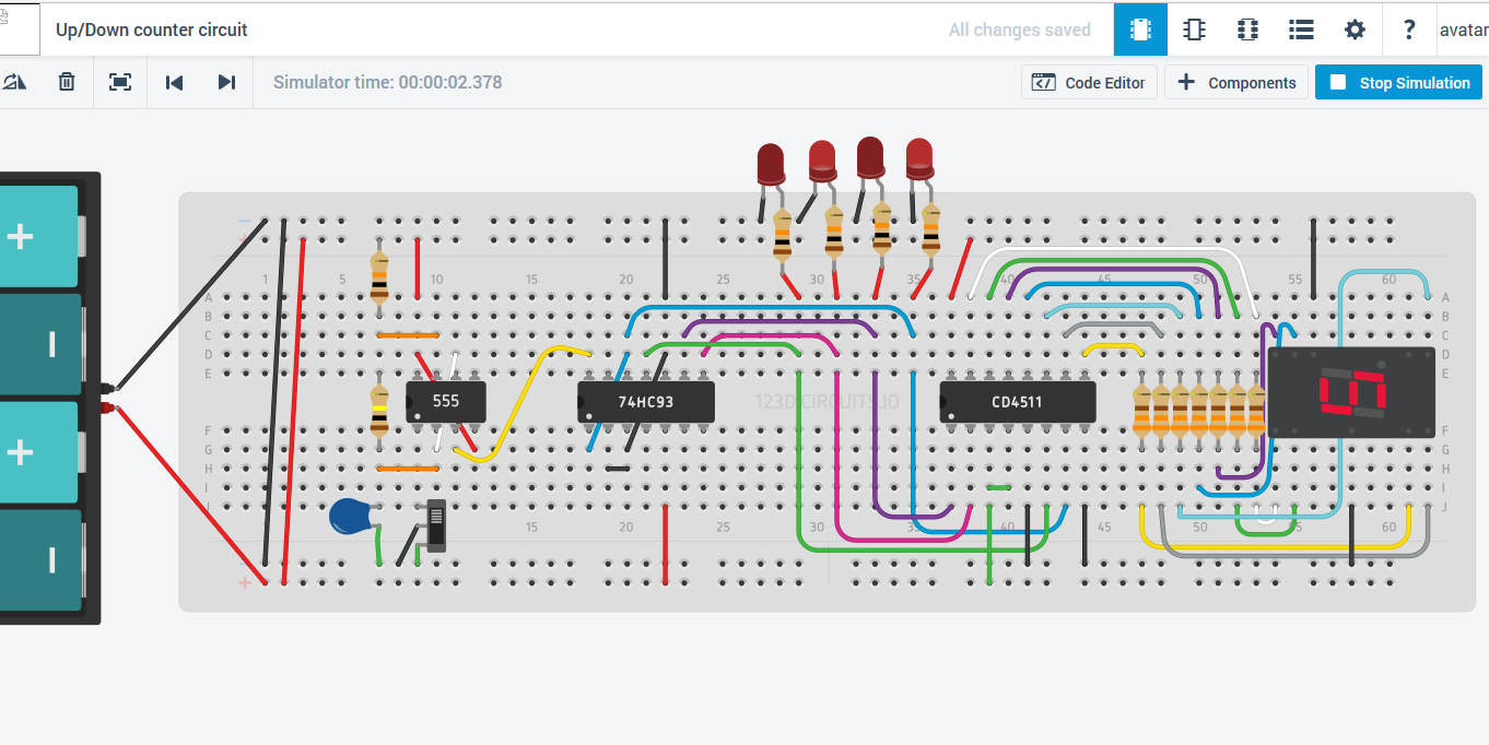 Logic Diagram Of Ic 7447 Wiring Library Up Down Counter 0 15 Circuit Using 555 Timer 74193